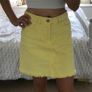 New Look Denim Yellow Skirt